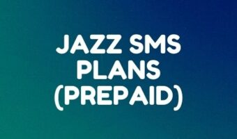 Jazz daily, weekly, and monthly SMS plans for prepaid users